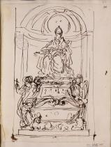 Carlo Maratta: Diseño para la tumba de Inocencio XI. RABASF, nº inv. D-0448