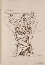 Carlo Maratta: Estudio para Pechina con alegoría del Río Tiber para el Palacio Altieri. RABASF, nº inv. D-0493.