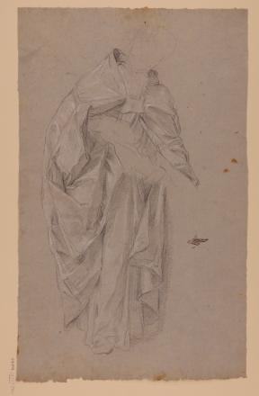 Andrea Procaccini: Estudio de capa pluvial sobre figura de clérigo. RABASF, nº inv. D-1147.