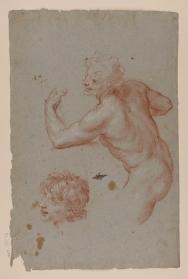 Carlo Maratta: Estudio para la figura de sátiro en la Alegoría del Verano, ca. 1680. Madrid, RABASF.
