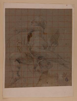Giovanni Lanfranco: Estudio de ángel volando en la capilla Sachetti. Madrid, RABASF, nº inv. D-1663.