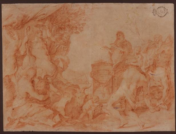 Andrea Sacchi: Estudio de Sacrificio a Pan. Madrid, RABASF, nº inv. 2298.