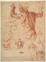 Miguel Ángel Buonarroti: Estudio para la Sibila Líbica, ca. 1511. Nueva York, Metropolitan Museum, nº inv. 24.197.2.