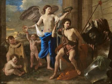 Nicolas Poussin: David vencedor de Goliat. Madrid, Museo Nacional del Prado.