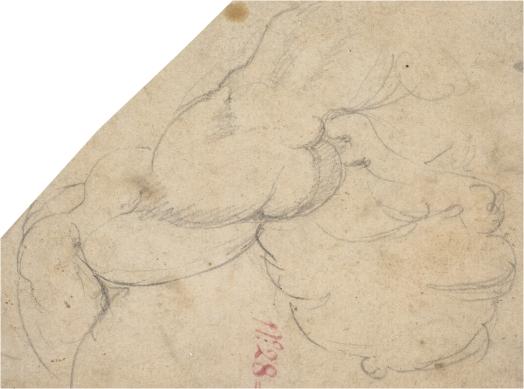Miguel Ángel Buonarroti: Estudio de hombro derecho pecho y parte superior de brazo de hombre. Madrid, Museo Nacional del Prado.