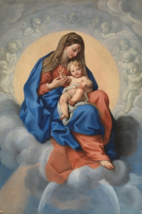 Carlo Maratta: La Virgen con el Niño en la gloria. Madrid, Museo Nacional del Prado.