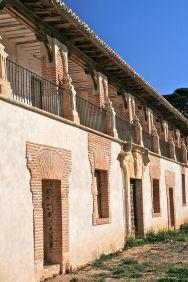 Detalle de la plaza de festejos de Nuevo Baztán. Foto: wikicommons (Tamorlan)