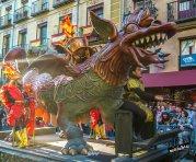 Detalle de carro con dragón. Fiesta barroca. IV Centenario de la construcción de la Plaza Mayor de Madrid. Foto: JCV.